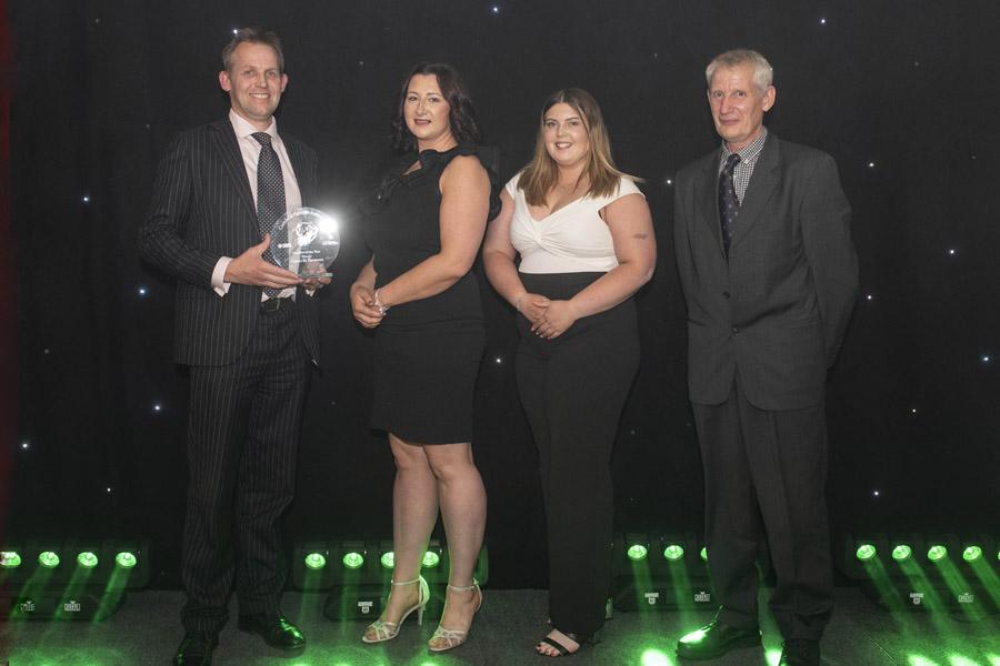 Martin Hall presents Farmer Award